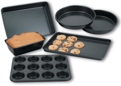 Cook N Home 6-Piece Heavy Gauge Nonstick Bakeware Set