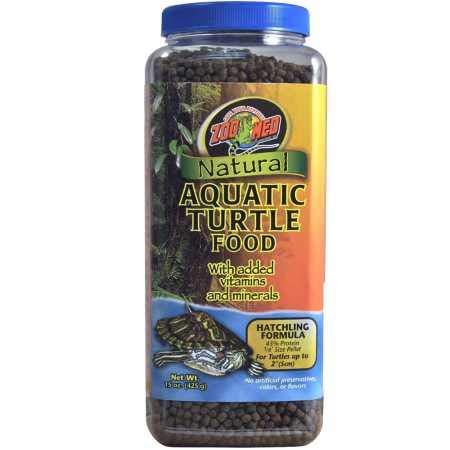 Zoo Med Natural Aquatic Turtle Food Hatchling Formula (15 oz)