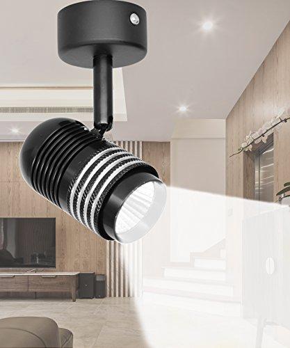 7W LED Ceiling Spotlights Fixture Flush Mount, Rotatable Wall Downlight, Accent Lighting, 6000K / Cool White, Aluminum, Lighting For Living room, Background Wall, Mural, Hallway, Corridor, Bedroom