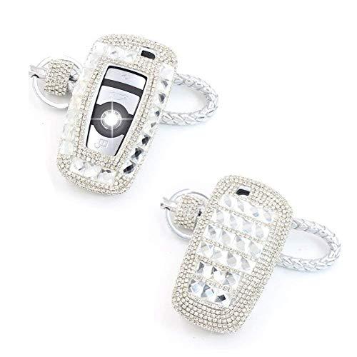 YIKA BMW Diamond key shell Car Key Case Cover Holder Pouch Remote Key Chains Key Bag For BMW keyless remote control Smart Key 1/2/3/4/5/6/M/X SERIES