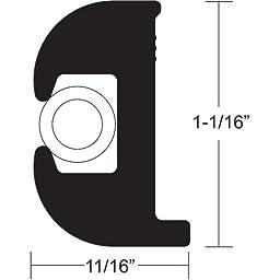 TACO Flex Vinyl Rub Rail Kit - Black With White Insert - 50\'