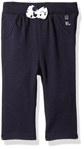 (Robeez  baby-girls Knit Pants, Navy, 3)