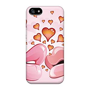Iphone 5/5s Case Slim [ultra Fit] Love Kiss Protective Case Cover