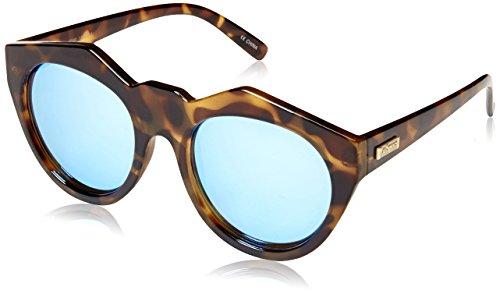 Le Specs Neo Noir LSP1402001 Rectangular Sunglasses, Milky Tortoise, 55 - Glasses Neo