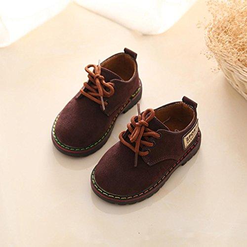 Hunpta Kinder Schuhe Mode Baby Halbschuhe verschleißfesten Martin jungen Mädchen Schuhe (Länge: 15 CM, Kaffee) Kaffee