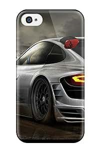 Hot Design Premium FdTtMdF5400DzzFp Tpu Case Cover Iphone 4/4s Protection Case(porshe Carrera 911)