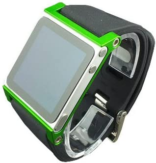 Multi Touch Aluminum Watch Band Cover Case For Apple Ipod Nano 6th Generation 8 Gb 16 Gb Correa De Mano Para Ipod Nano 6 G Verde