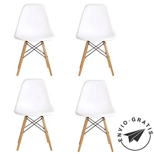 SET - 4 Sillas Lady Eames Blanco
