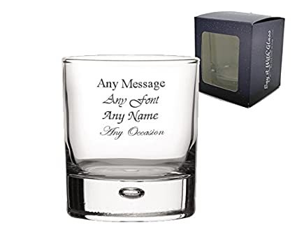 01f5bbf987e Personalised Engraved Bubble Whiskey Tumbler Glass Birthday Wedding Gift  Usher