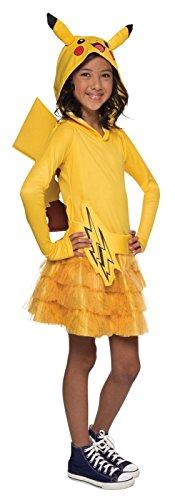Rubie's Costume Pokemon Pikachu Child Hooded Costume Dress Costume, Small