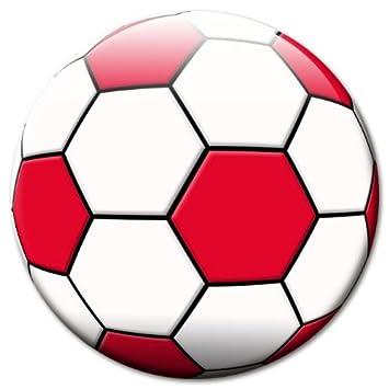 Fan Magnet Fussball Rot Weiss O 50 Mm Amazon De Kuche Haushalt