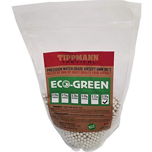 Eco Bb - Tippmann ECO-Green Precision Match Grade 6mm Airsoft BB's White (.36g / 2780 BB's)