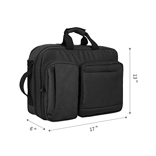 """Zpoint X1 Large Briefcase & Backpack Convertible Hybrid, Fits 17"""" Laptop, Water-resistant Business Traveling Shoulder Bag for Men/Women, (Plus 2\"""