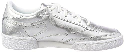Da Donna Argento Basse C white silver Scarpe S Reebok Club 85 Ginnastica Shine zYwFxvxq4