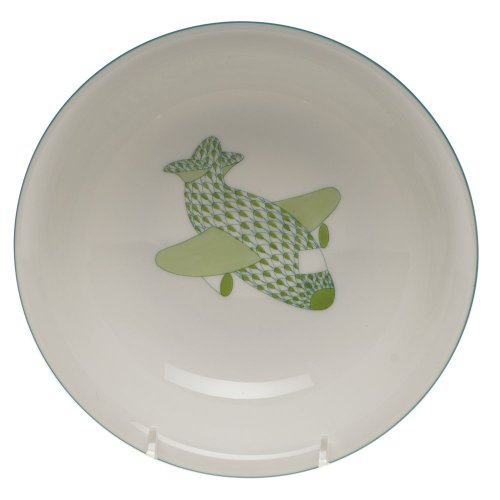 Herend China Childrens Feeding Bowl with Airplane by Herend
