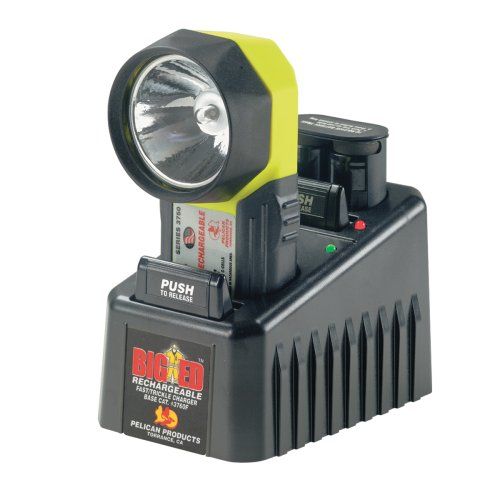 Pelican Big Ed 3750 Rechargeable Flashlight With Charger (Yellow)