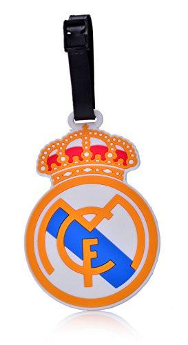 REINDEAR Soccer Football Club Team Logo Heavy Duty Baggage Travel Luggage ID Tag US Seller (Real Madrid C.F.)