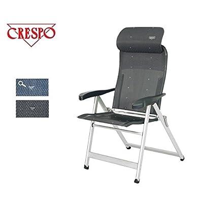 Crespo Chaise pliante Compact de luxe avec partie Tête Amovible–7positions–Forme anatomique.–en aluminium–chaises de camping luxe&ndash