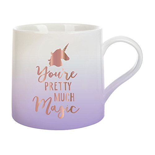 Slant Collections Women's You're Pretty Much Magic Jumbo Mug, Rose Gold, One Size ()