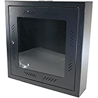 CNAweb 12U 19 Slim SoHo Wall Mount Rack Cabinet Enclosure 6 Depth - Black