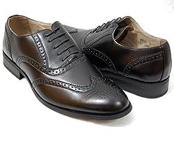 Men's Oxford Dress Shoes by Majestic, Black Size 10