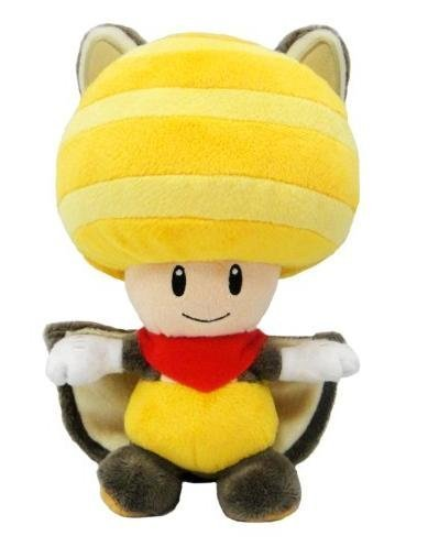 Super Mario Yellow Toad Squirrel Plush Doll 8