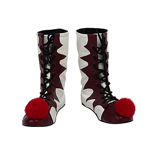 Cuterole Pennywise Clown Cosplay Shoes/Boots Custom Made For (Female Pennywise Costume)