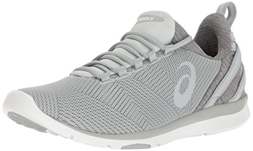 Mid Cross Training Shoe (ASICS Women's Gel-Fit Sana 3 Cross-Trainer Shoe, Mid Grey/White/Glacier Grey, 8 M US)