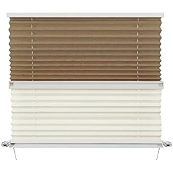 Amazon Com Recpro Rv Pleated Blind Shades Cappuccino