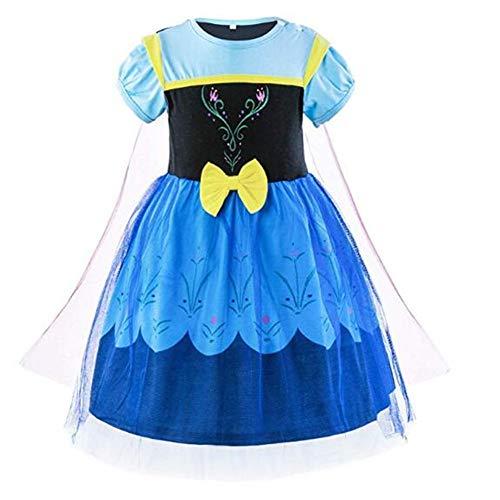 Tsyllyp Little Girls Anna Dress Cosplay Tutu Costumes W/Shawl
