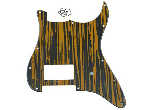 KAISH 11 Hole ST Strat One Humbucker Guitar Pickguard Scratch Plate Fits Fender Delonge Tawny Stripe