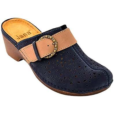 Jana Blue Slides Slipper For Women
