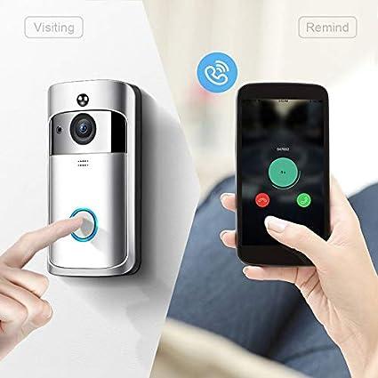 Ningbao M3 Night Vision WIFI Smart Vid/éo Sonnette Vid/éo Sans Fil Portable Maison Bell Porte T/él/éphone Sans Fil Interphone Smart Home Pi/èces