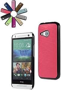 Bralexx 6243 carcasa Smartphone Negro 6245 Rosa-Karo para HTC uno mini 2 generación de color rosa