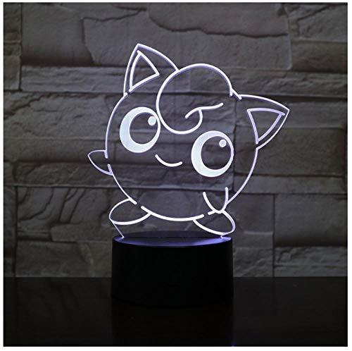 Nachtlichter Cartoon 3D LED Lampe FigurenNacht Glühbirne Multicolor Geburt Geschenk Kid Toy Gadgets Touch Lava