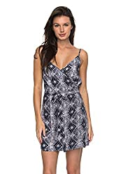 Roxy Womens Roxy Drifting Current - Strappy Wrap Dress - Women - S - Blue Dress Blue Chamane Voice S