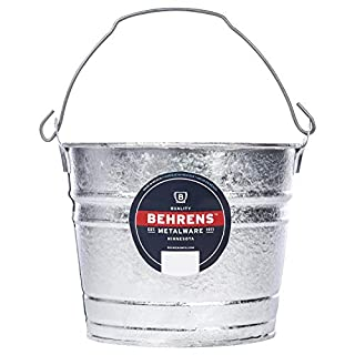 Behrens 1205 Hot-Dipped Galvanized Steel Utility Pail, 5-Quart, Silver