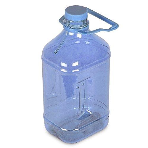 Blue Polycarbonate Water Bottle - 1/2 Gallon (64 oz.) Polycarbonate Plastic Water Bottle w/ Handle - 48mm Cap Dark Blue