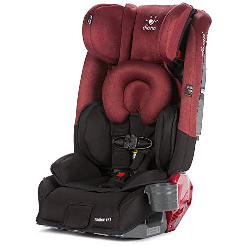 (Diono Radian RXT All-in-One Convertible Car Seat, For Children from Birth to 120 Pounds, Black Scarlet )