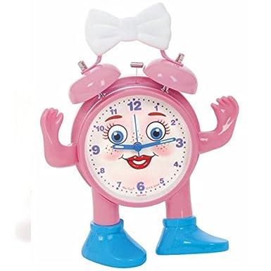 ABC juego reloj para aprender las horas, Miss Ticki en alemán rosa y blanco, con pila: Amazon.es: Electrónica