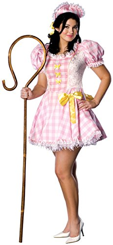 [Secret Wishes Full Figure Bo Peep Costume, Pink] (Lamb Costumes For Adults)