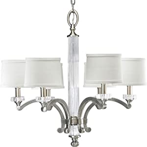 Progress Lighting P4501-101 6-Light Roxbury Chandelier, Classic Silver