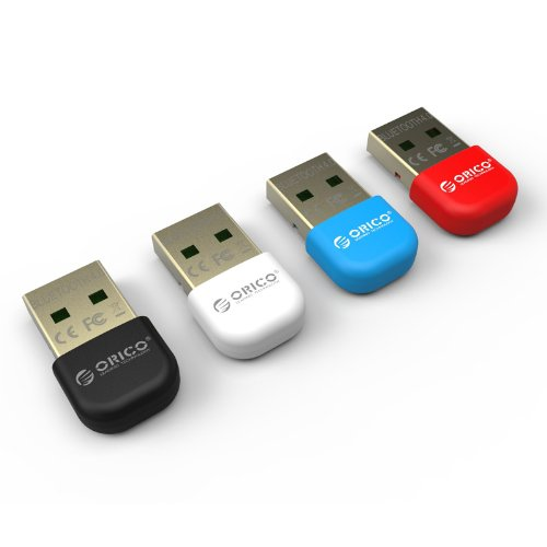 Kingzer New ORICO BTA-403 USB Bluetooth Adapter Wireless Dongle for Windows 8/7/XP Red from KINGZER