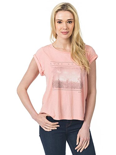 Rip Curl Logda Tee, Woman Color: Granite Gray APRICOT BLUSH