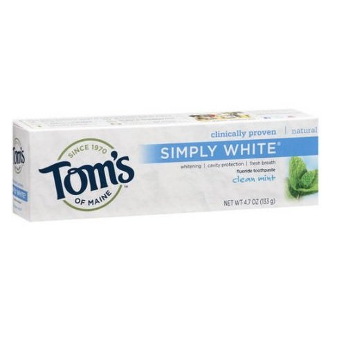 Tom's of Maine Fluoride-Free Travel Natural Toothpaste 3 oz Fresh Mint (24 Pack) TSA Airplane Approved Size by Tom's of Maine (Image #1)