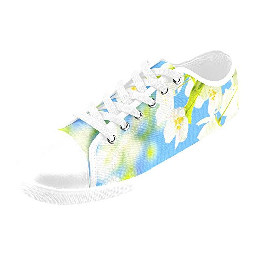 Artsadd Bright Blooms Canvas Shoes For Women(Model016) AbHZu