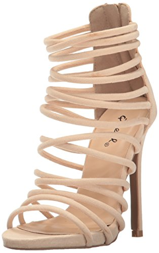 Qupid Womens Glee Faux Suede Dress Stilettos Nude TrD6BnC4n