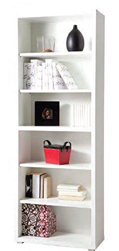 Libreria modulare armadiatura ufficio mobile laccato bianco LB7070 ...