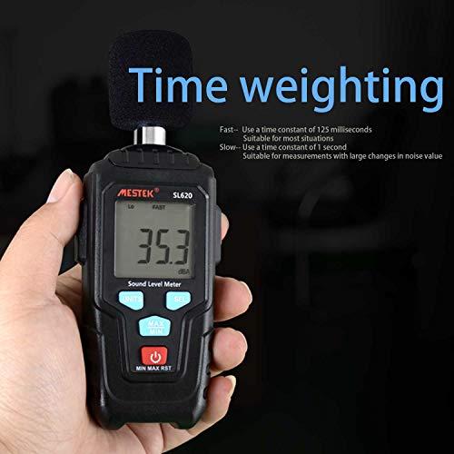 Decibel Meter Digital Sound Level Meter MESTKE 30 – 130 dB Noise Volume Measuring Instrument Reader Self-Calibrated Max Min Data Hold Fast/Slow Mode LCD Backlight Display/Flashlight by MESTEK (Image #7)
