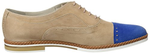 Oxford Denim Rosa para Lottusse de Zapatos Velour Mujer Cordones S9572 wqTggI